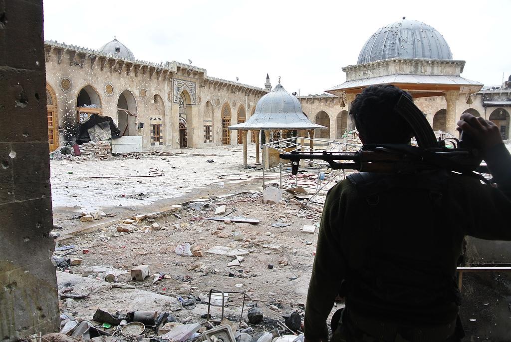 Mosquée des Omeyyades ravagée par la guerre