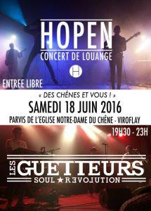 Concert HOPEN et Les Guetteurs